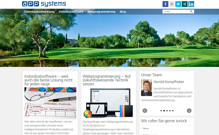 Unsere neue Website: appsystems.at