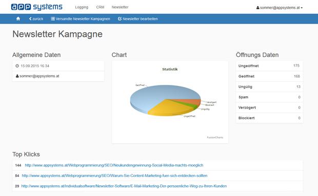 Newsletter Software von appsystems