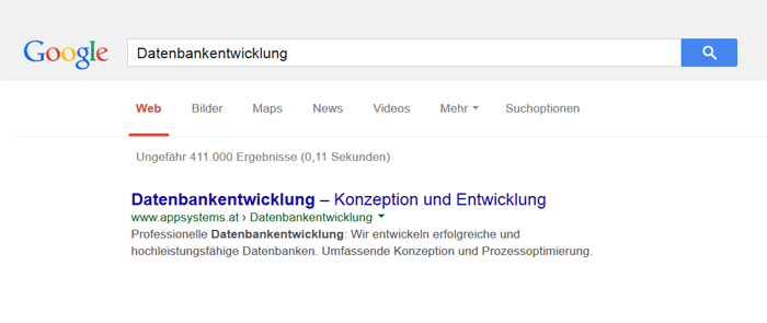 Snippet Optimierung: Google Snippet