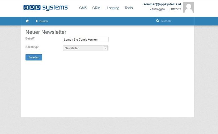 Newsletter Software: Wie Sie einen Newsletter anlegen