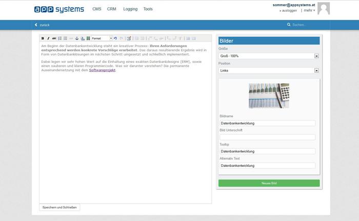 Newsletter Software: Textfelder bearbeiten