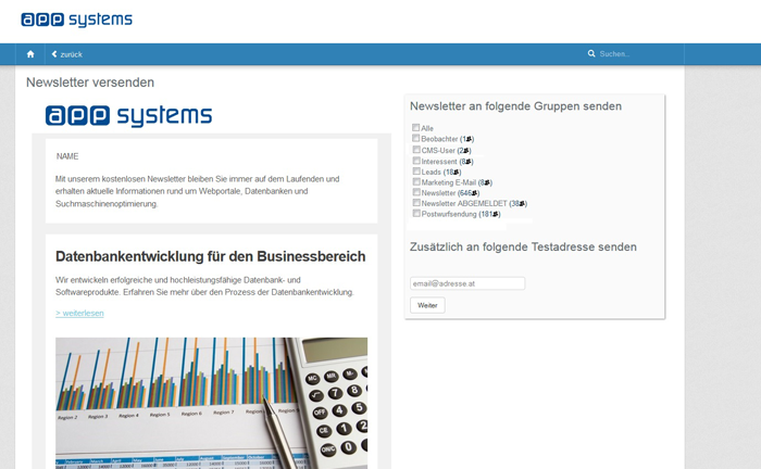 Newsletter Software: Newsletter versenden