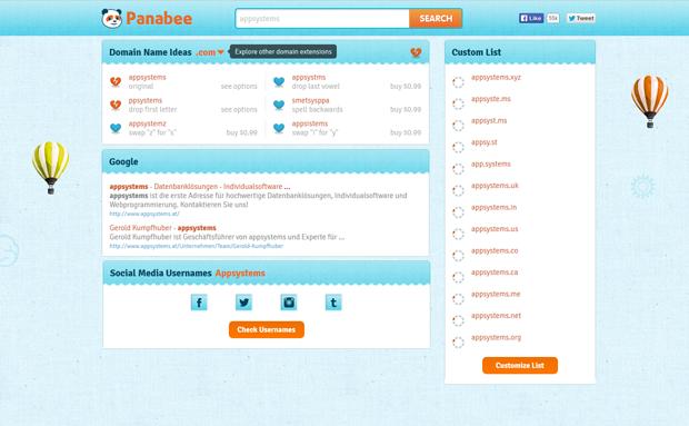 Domain finden: Verschiedene Tools